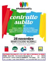 locandina manifestazione del 28 novembre