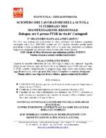 VOLANTINO Emilia Romagna SCIOPERO 23 FEBBRAIO