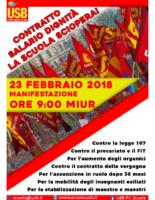 locandina sciopero 23 febbraio