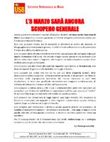8 marzo sciopero generale comunicato nazionale