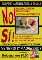 Locandina sciopero scuola 17 maggio