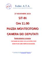 MANIFESTAZIONE MONTECITORIO 27 NOVEMBRE 2019 DEFINITIVO