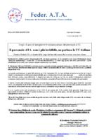 LE TV ITALIANE FINALMENTE PARLANO DEL PERSONALE ATA