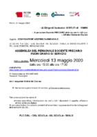 Assemblea Sindacale Unitaria 13 maggio 2020 DOCENTI PRECARI