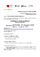 Assemblea Sindacale Unitaria 14 maggio 2020 ATA