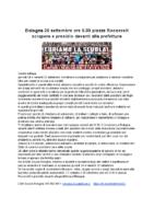 Volantino presidio Bologna 25 settembre 2020