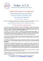 COMUNICATO STAMPA DEL 07 DICEMBRE 2020