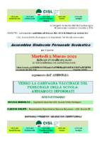 cisl scuola su campagna vaccinazione